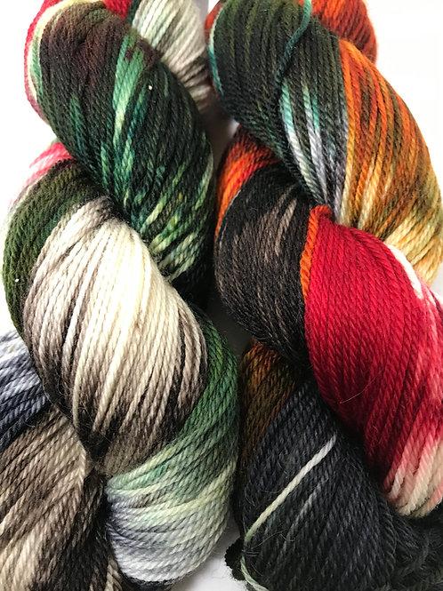 Terra Firma Fingering Weight Merino/Cashmere/Silk Superwash Yarn - Hoof-To