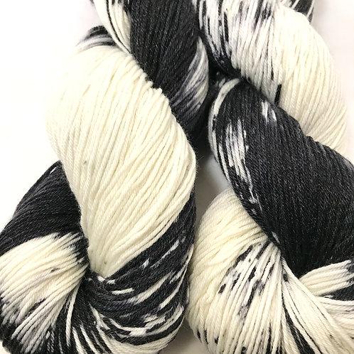 Dalmatian Fingering Weight Merino//Nylon/Tencel SW Yarn - Hoof-To-Hanger