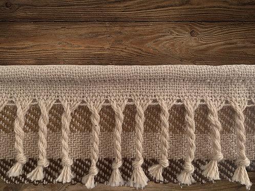 SOLD -Melanie Nieske Custom Hand Woven Wall Tapestry - Hoof-to-Hanger Fiber Mill