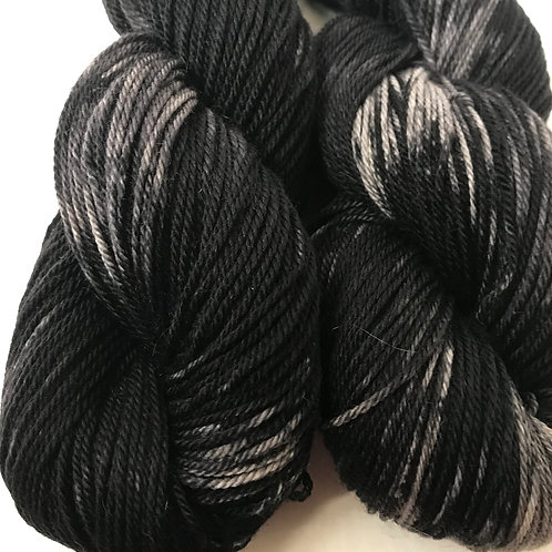 Variegated Black Fingering Weight Merino/Cash/Nylon SW Yarn - Hoof-To-Hanger