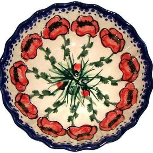 Medium Bowl with Scalloped Edges - Polish Pottery