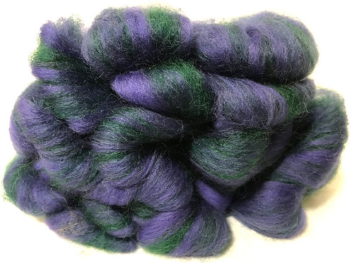 4 oz. Eggplant Roving - Hoof-To-Hanger