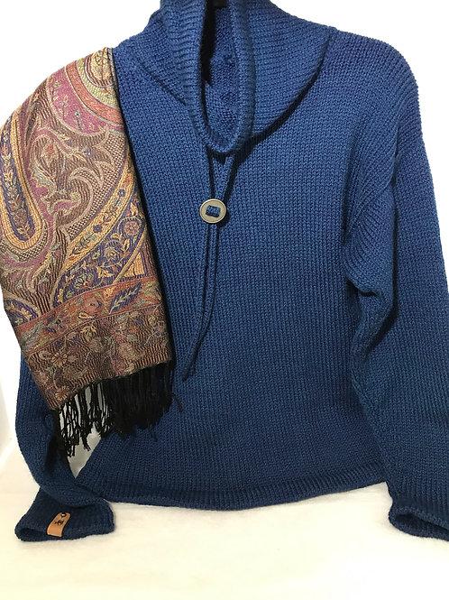 Funnel Neck Artisan Knitted Sweater - Hoof-to-Hanger