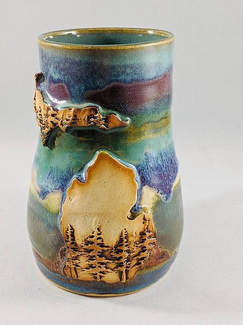 Dani Jo Hawkins Pottery Michigan Mugs