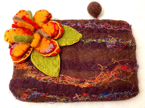 Hand Clutch - Felted