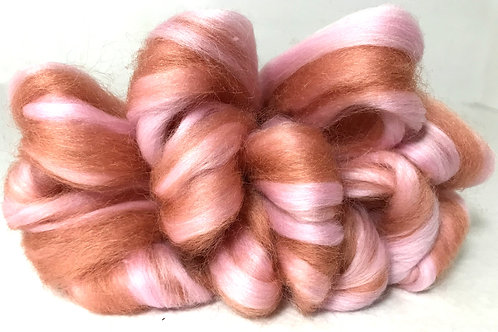 4 oz. Blush Roving - Hoof-To-Hanger
