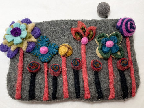SOLD - Hand Clutch - Felted