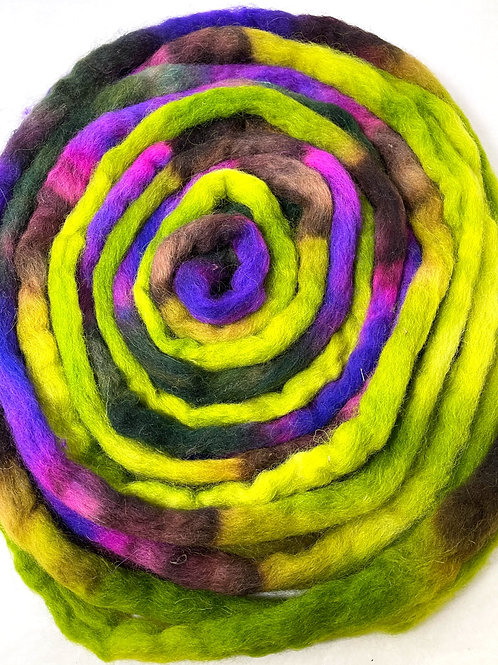 4 oz. Neon Sunset Hand Dyed Roving - Hoof-To-Hanger