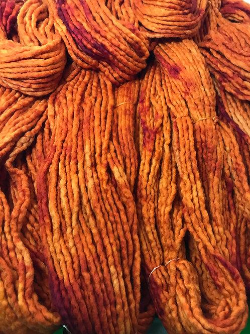 =Variegated Saffron Hoof-To-Hanger -  Super Bulky Weight Yarn