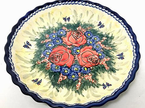 Pie Plate/Quiche Baker - Polish Pottery
