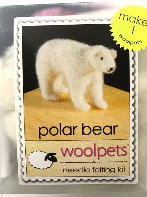 Polar Bear Needle Felting Kit - Woolpets