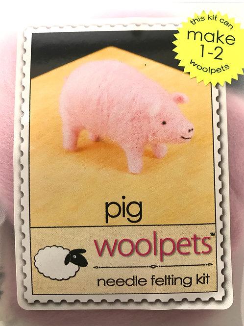 Pig Needle Felting Kit - Woolpets