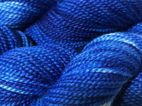 Variegated Sapphire Blue DK Weight Yarn - Hoof-To-Hanger