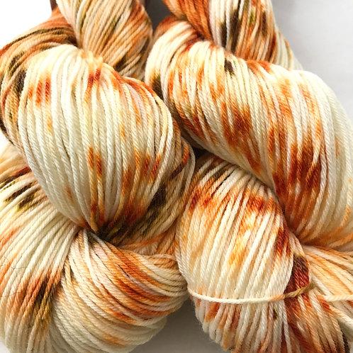 Pumpkin Latte Fingering Weight Merino/Nylon/Tencel SW Yarn - Hoof-To-Hanger