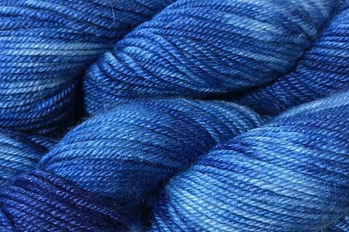 Variegated Sapphire Blue Sport Weight Yarn - Hoof-To-Hanger
