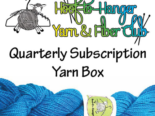 Hoof-to-Hanger Fiber Mill Quarterly Subscription Yarn Box