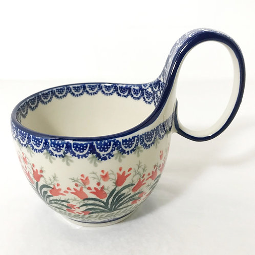 Bowl with Loop Handle - Polish Pottery