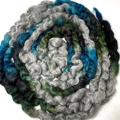 4 oz. Contrails Hand Dyed Roving - Hoof-To-Hanger