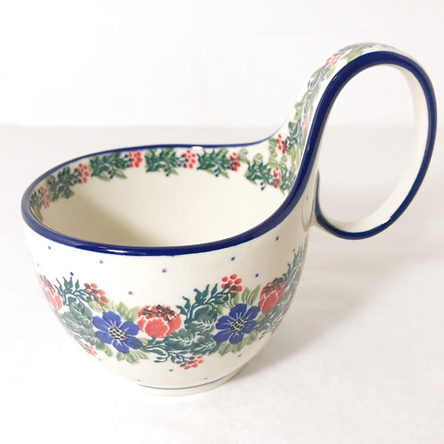 Bowl with Loop Handle - Polish Pottery