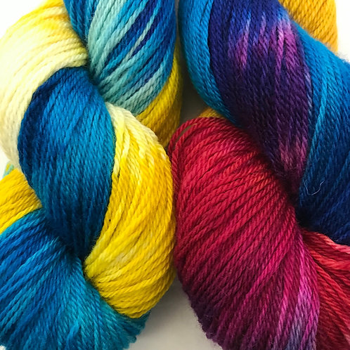 It's My Party Fingering Weight Merino/Nylon/Tencel SW Yarn - Hoof-To-Hanger