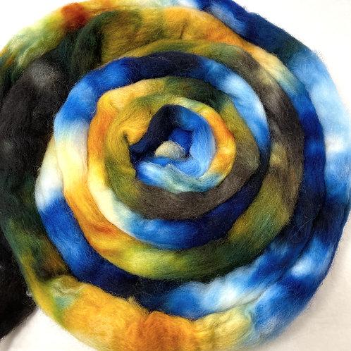 4 oz. Summer Weko Beach Hand Dyed Roving - Hoof-To-Hanger