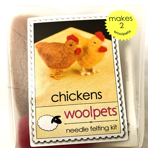Chickens Needle Felting Kit - Woolpets