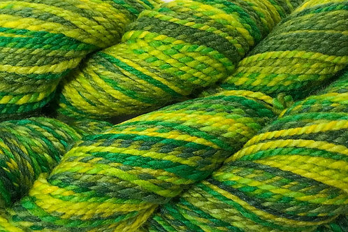 Twisted Lemon Lime Worsted Weight Yarn - Hoof-To-Hanger