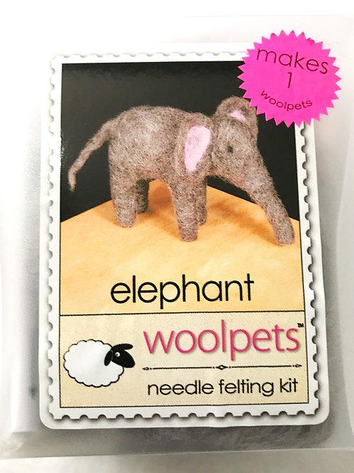 Elephant Needle Felting Kit - Woolpets
