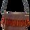 Thumbnail: SOLD - Melanie Nieske Handwoven Chevron Fringe  Bag - Hoof-to-Hanger Fiber Mill