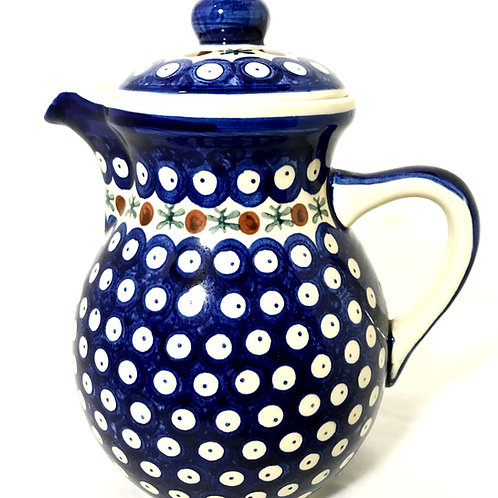 Pitcher with Lid - Polish Pottery