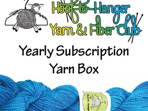 Hoof-to-Hanger Fiber Mill Yearly Subscription Yarn Box