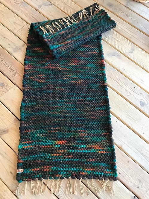 Suzy Barnes Custom Hand Woven Runner - Hoof-to-Hanger Fiber Mill