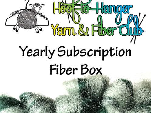 Hoof-to-Hanger Fiber Mill Yearly Subscription Fiber Box
