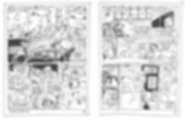 Extrait du storyboard du Vent des Cimes de Christain Perrissin & Eric Buche, pages 32-33, Editions Glénat