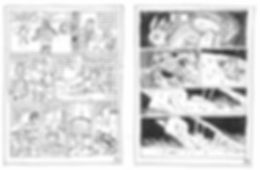 Extrait du storyboard du Vent des Cimes de Christain Perrissin & Eric Buche, pages 34-35, Editions Glénat