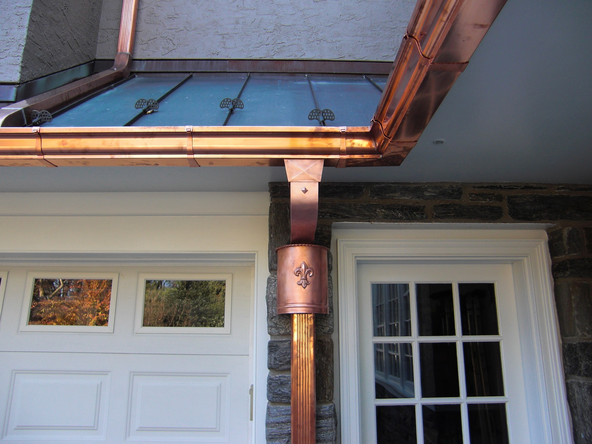 12. Copper Gutter and Spouting