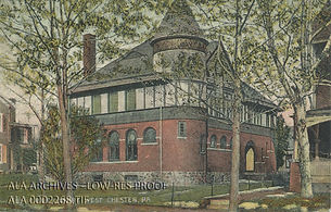 Postcard of West Chester Public Library