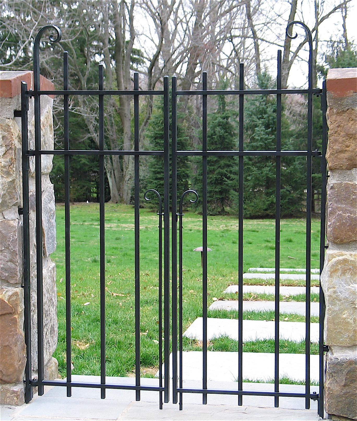 23. Simple Iron Patio Gates