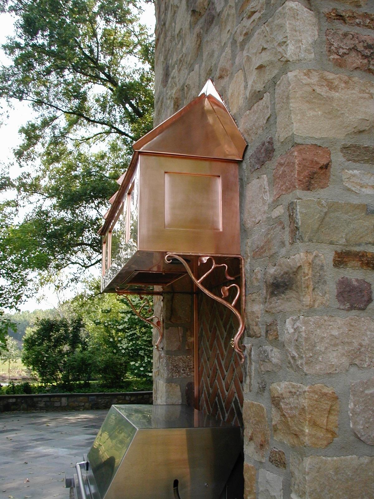 Exterior Copper Vent Hood