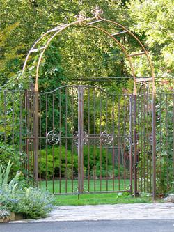 18. Solid Copper Garden Gates