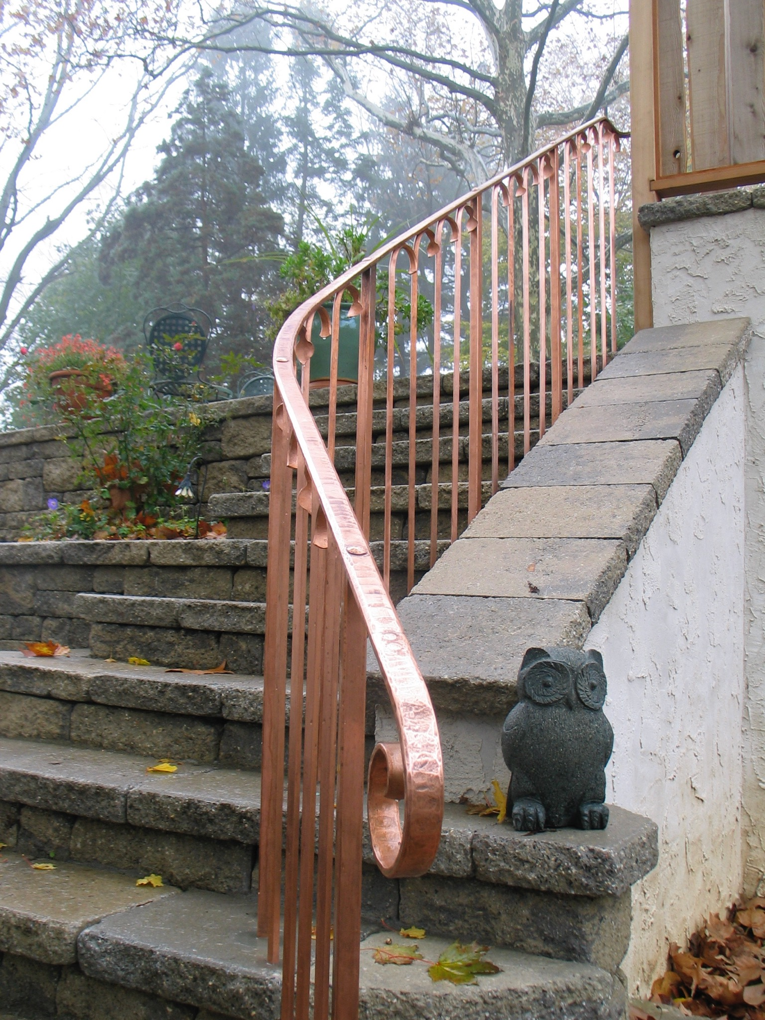 1. Solid Copper Railing