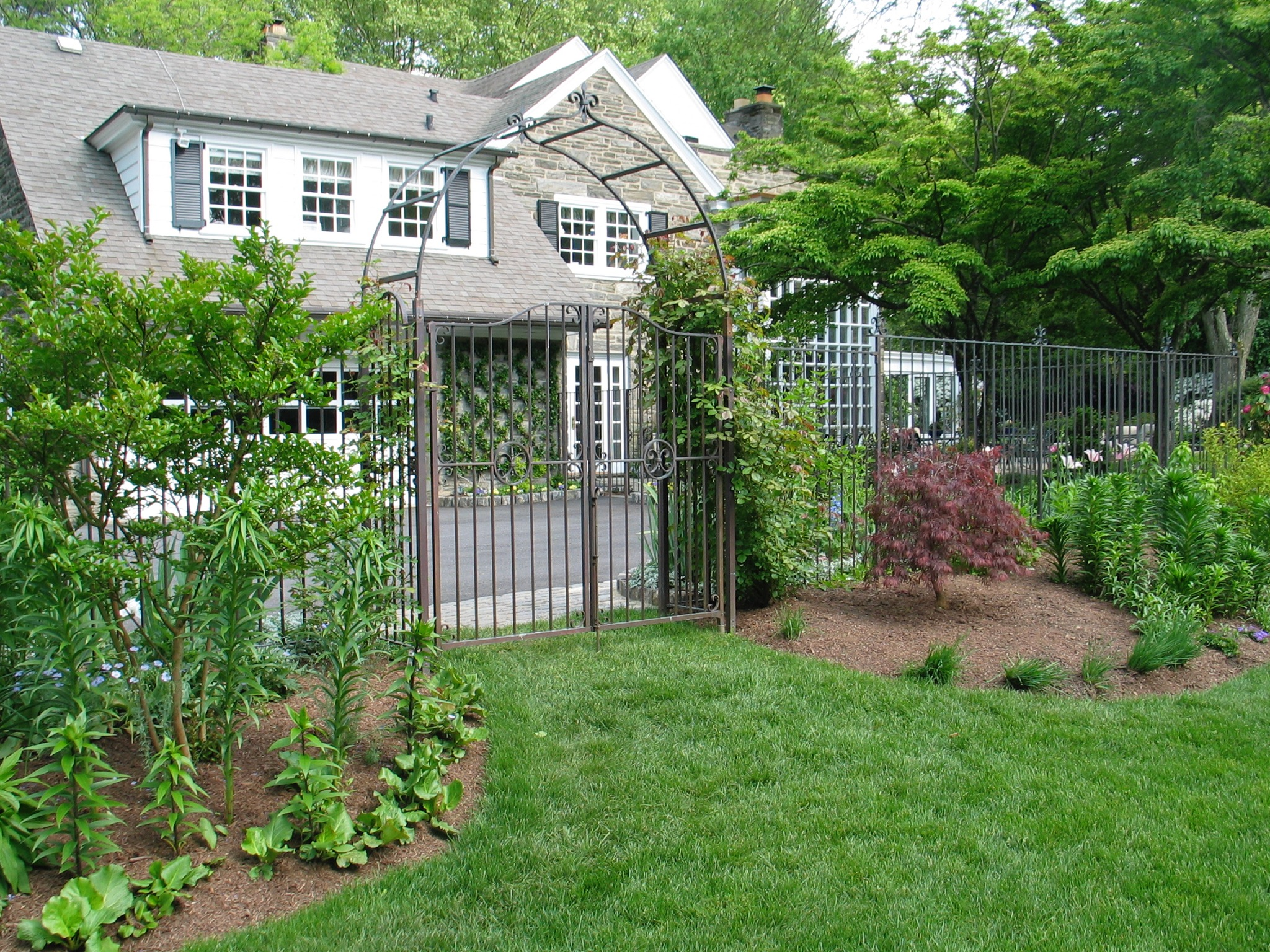 7. Solid Copper Garden Gates