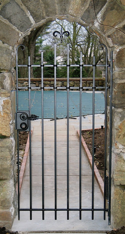 24. Hand-Forged Iron Pool Gate