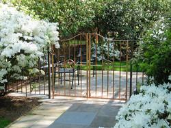 17. Solid Copper Garden Gates