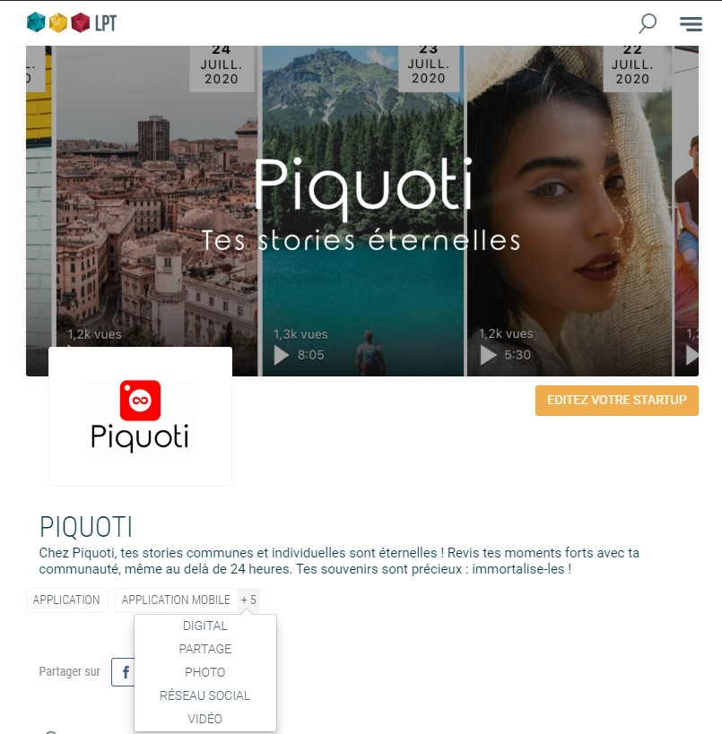 Piquoti est sur Les pépites Tech