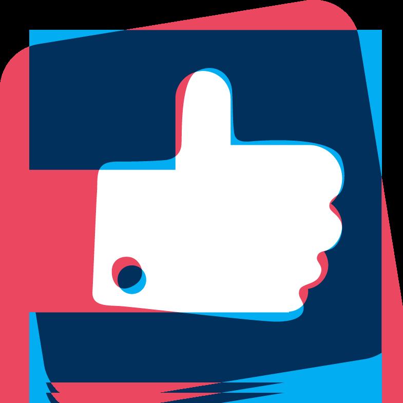 Logo pouce de J'aime les startups !