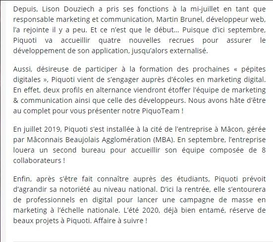 Piquoti est sur J'aime les startups!