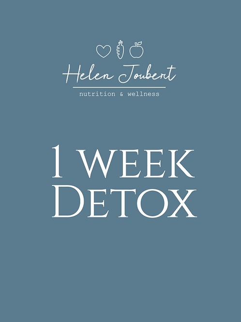 1 Week Gentle Detox Plan