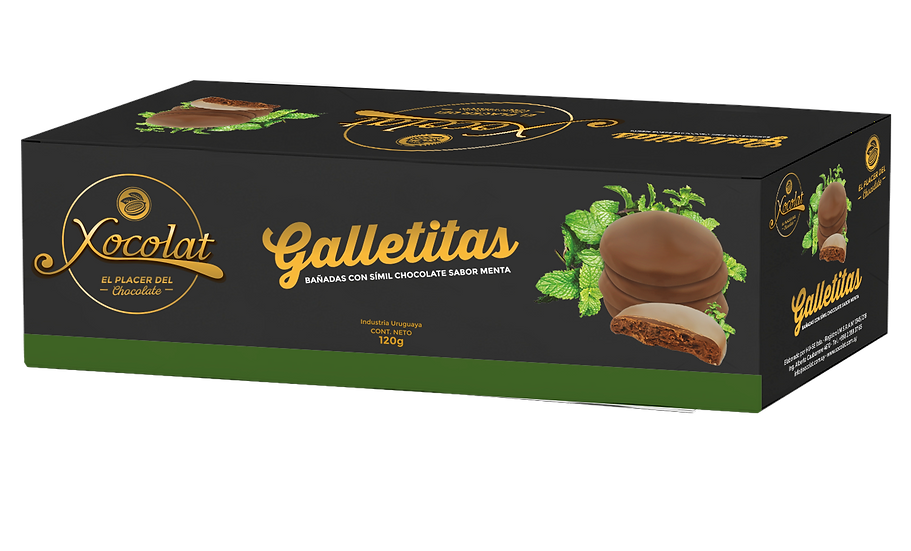 Galletitas bañadas en chocolate con menta
