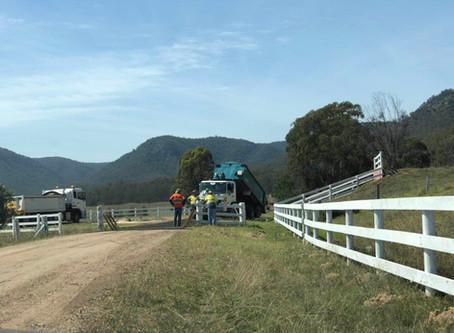 猎人谷庄园项目道路动工